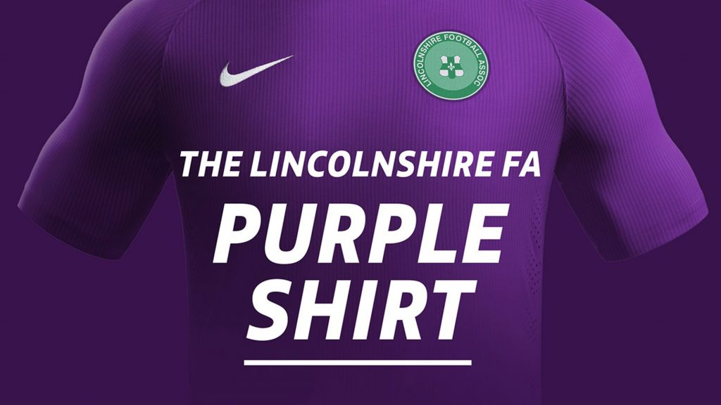 The Lincolnshire FA Purple shirts for U18 referees