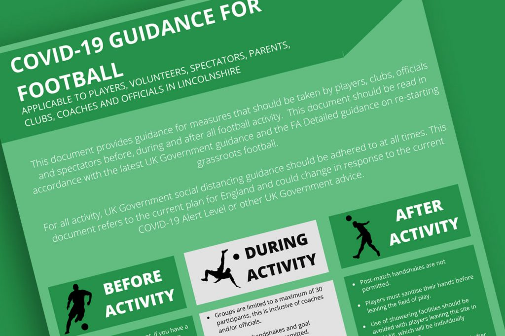 covid-19 latest guidance for football