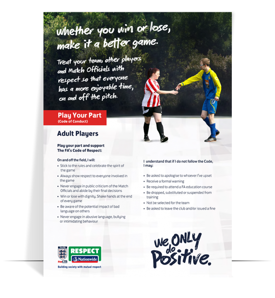 fa respect code of conduct adult players