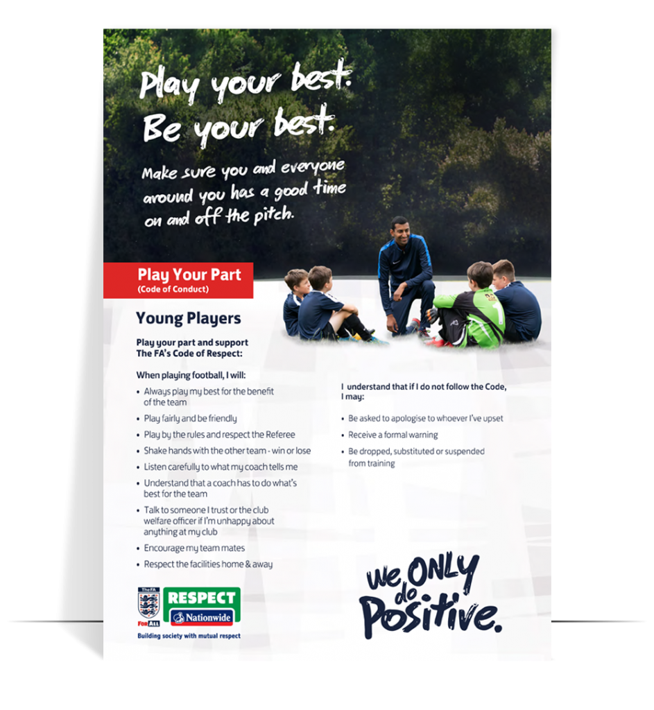 fa respect code of conduct young players