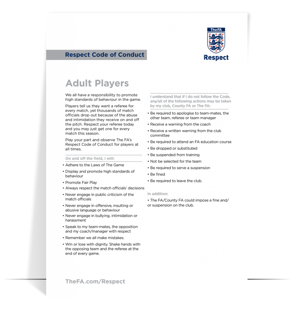 fa respect guidelines adults