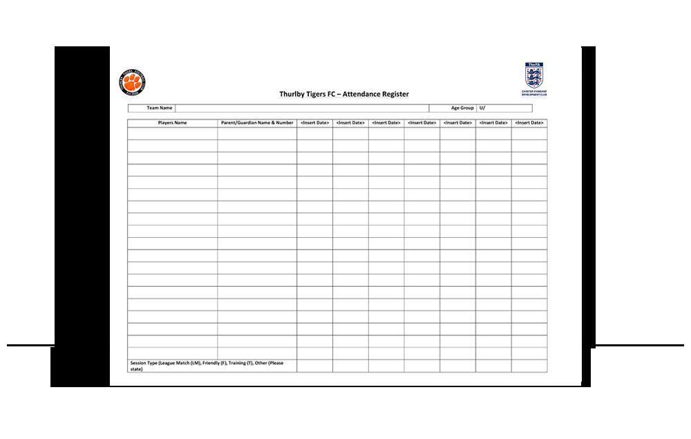ttfc covid-19 attendance register