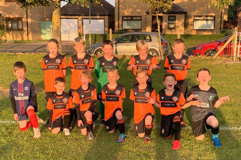 Thurlby Tigers U8's football club for year 3
